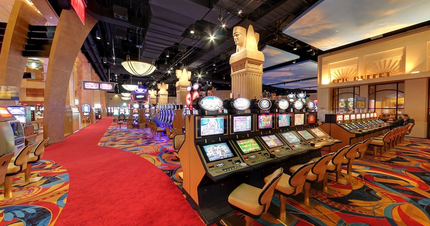 The interior of Hollywood Casino in Pennsylvania
