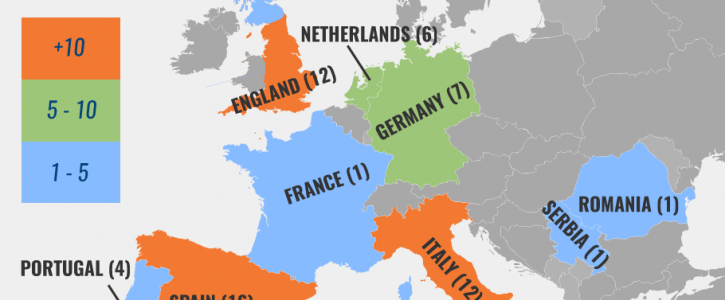Which Countries Have the Most Champions League Wins? (Map)