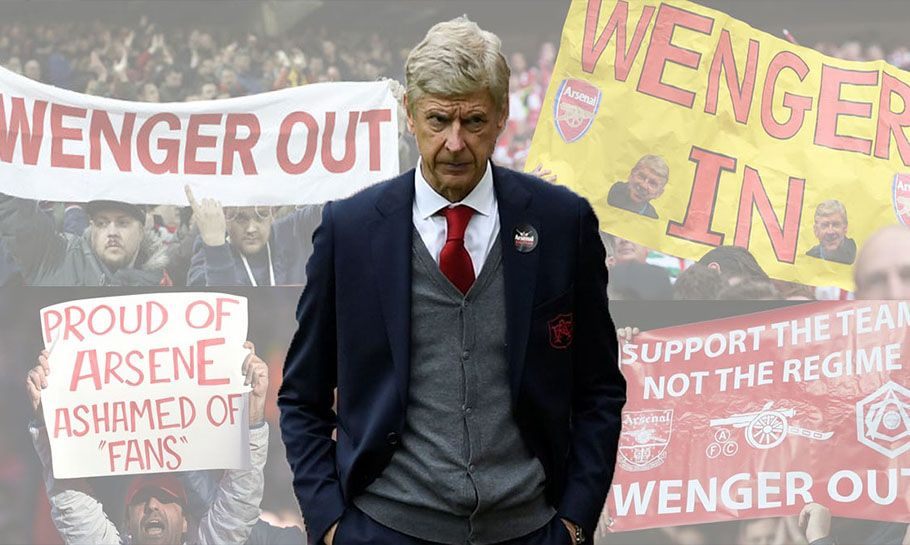 Arsene Wenger In or Out Infographic