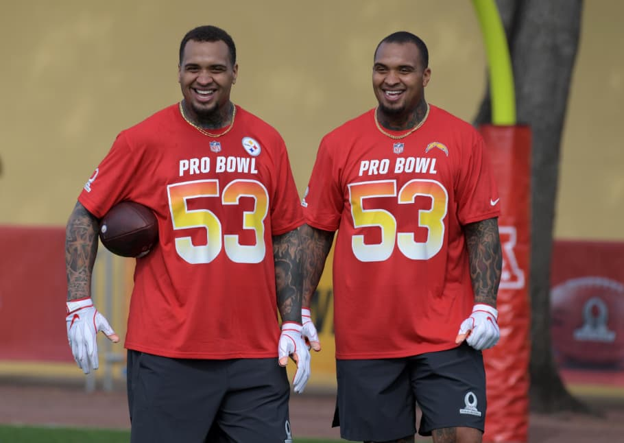 Twin brothers of Pittsburgh Steelers NFL Pro Bowl 2019
