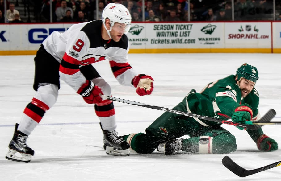 The New Jersey Devils' Taylor Hall