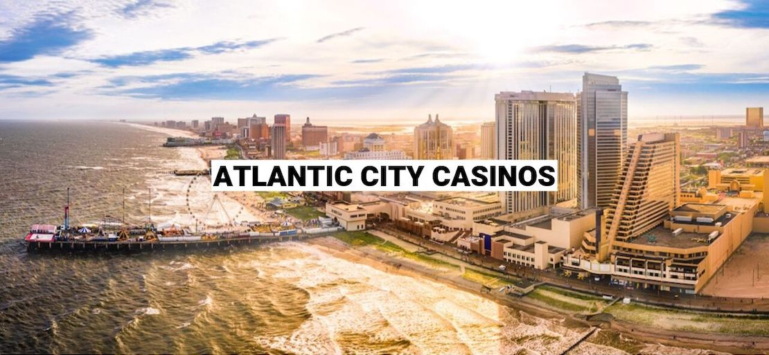 Picture of Atlantic City with the words Atlantic City Casinos written on it
