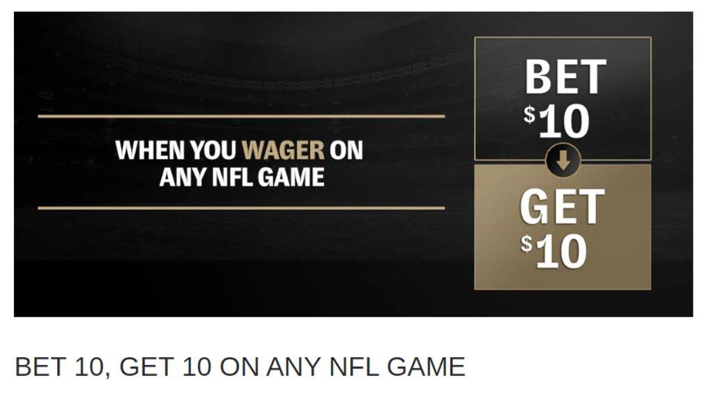 BetMGM NFL Promotion Bet 10 Get 10