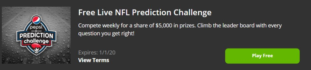 DraftKings NFL Promotion Free Live Prediction Challenge