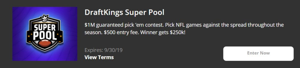 DraftKings Promotion Super Pool
