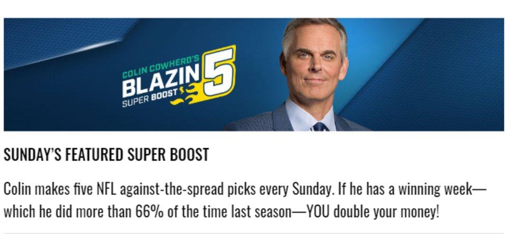 Fox Bet NFL Promotion Blazin 5