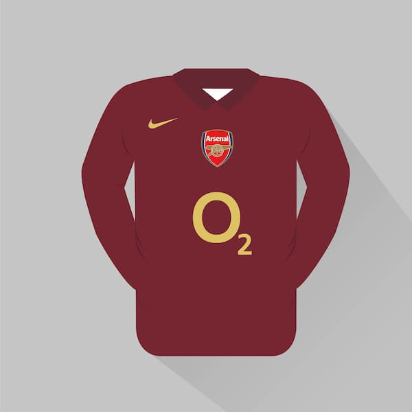 Arsenal home jersey 2005-06