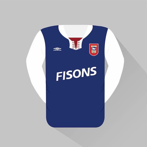 Ipswich Town home jersey 1992-93