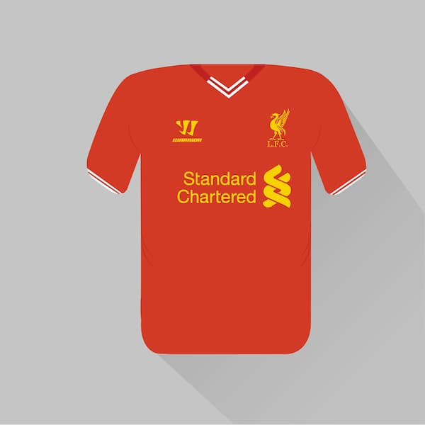 Liverpool home jersey 2013-14