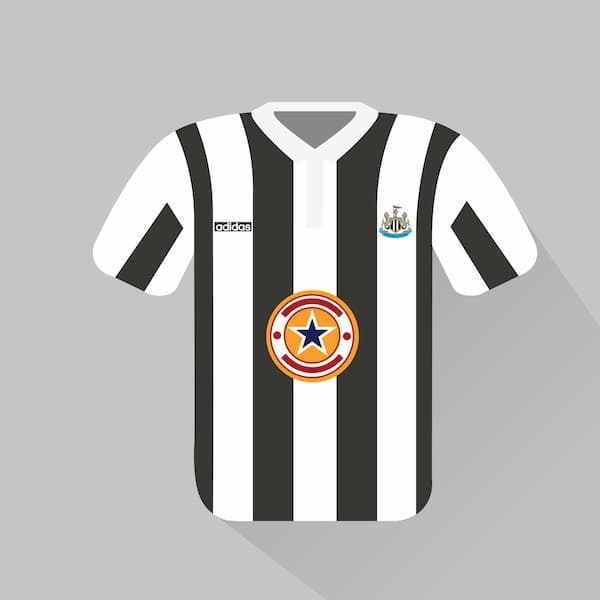 Newcastle United home jersey 1995-96