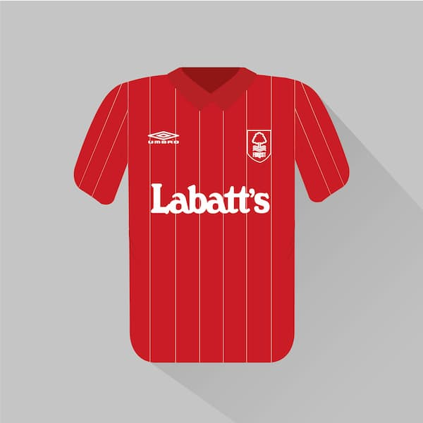 Nottingham Forest home jersey 1992-93