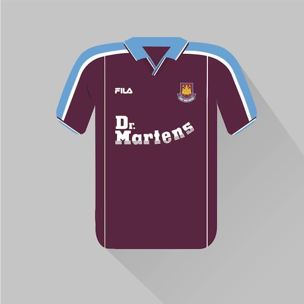 West Ham United home jersey 1999-00