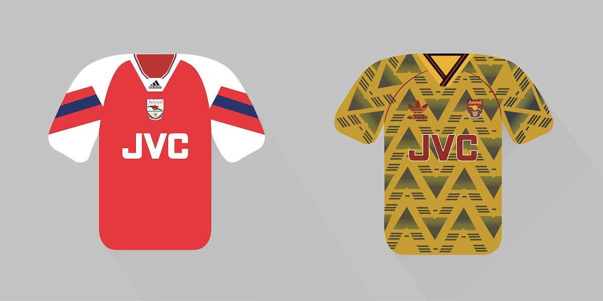 Arsenal home jersey 1992-93