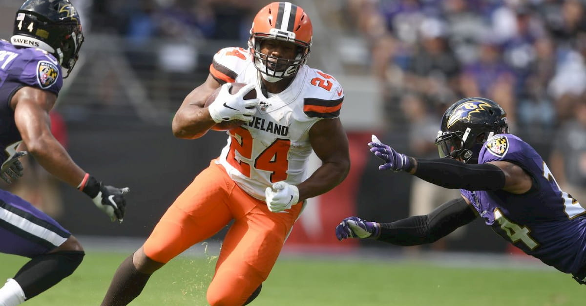 Cleveland Browns' Nick Chubb's Rushing Yards 2020