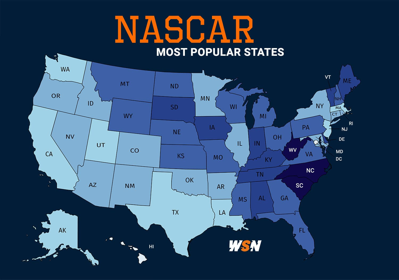 NASCAR most popular states