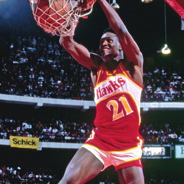 Atlanta Hawks Nique Red 1982-1992