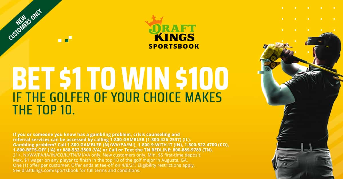 The Masters DraftKings Promo
